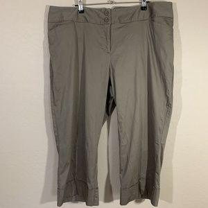 Lane Bryant Khaki Capri Dress Pants